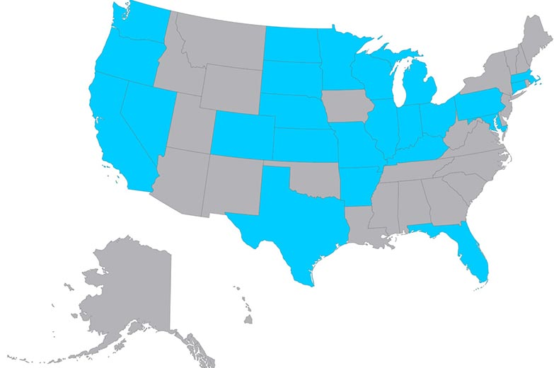 Map of the States Your Life Speaks Has Been Presented